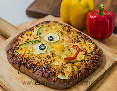Cheese and Ragi Pizza