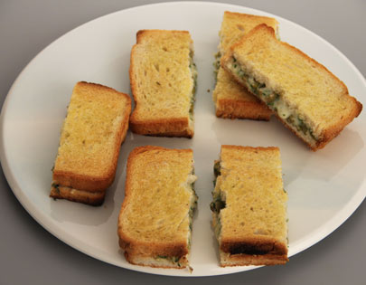 Cheese and Olive Sandwich