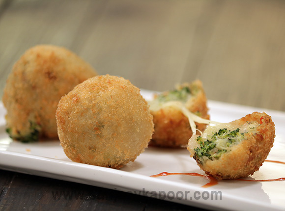 How To Make Cheesy Broccoli Balls Recipe By Masterchef Sanjeev Kapoor