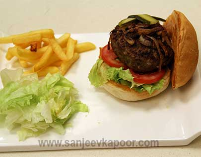 Cheesy Mutton Burger