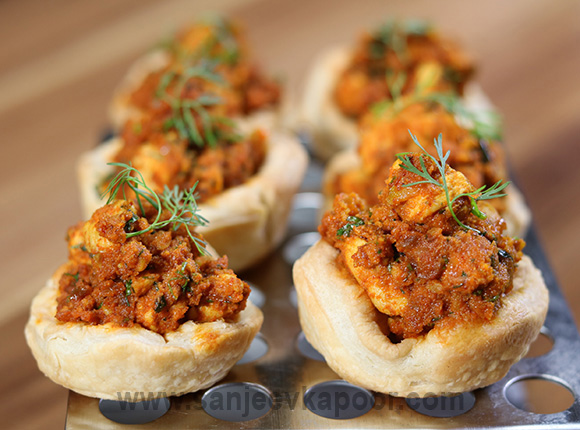 Chettinaad Chicken Cups