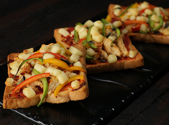 Chicken Bread Pizza