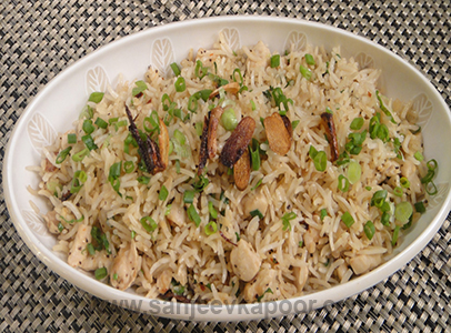 Chicken Burnt Garlic Rice