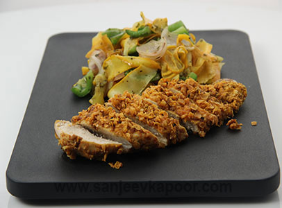 Chicken Cutlet with Vegetables