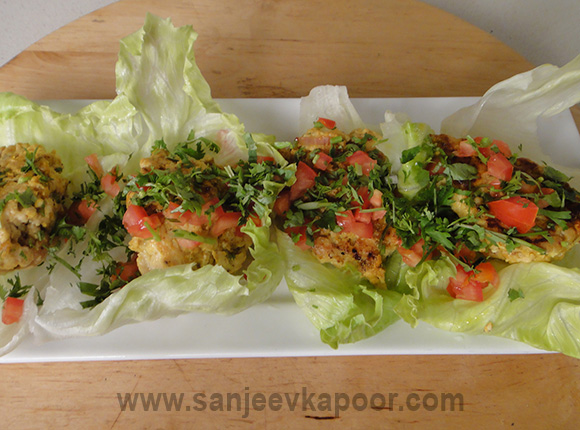 Chicken Cutlets in Lettuce Wraps