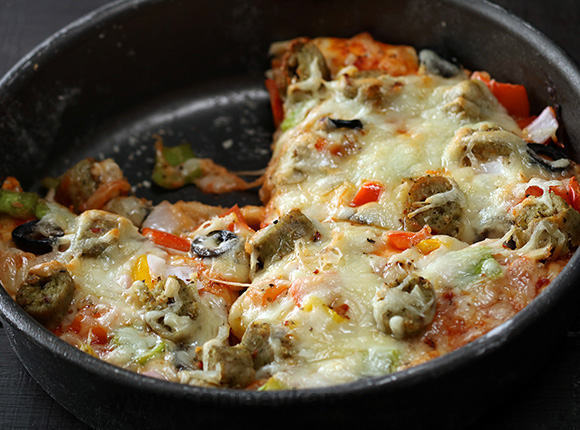 Chicken Pan Pizza