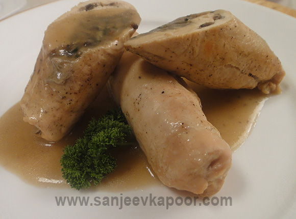 Chicken Roulade with Mushrooms