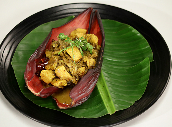 Chicken with Banana Flower - SK Khazana