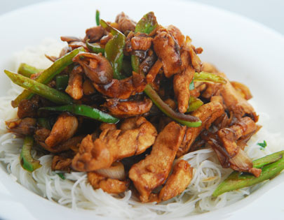 How To Make Chicken And Rice Noodle Stir Fry Recipe By Masterchef Sanjeev Kapoor