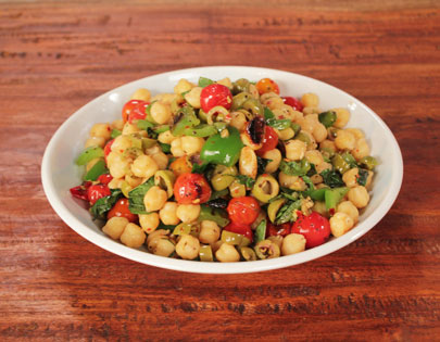 Chickpea Salad With Roasted Vegetables