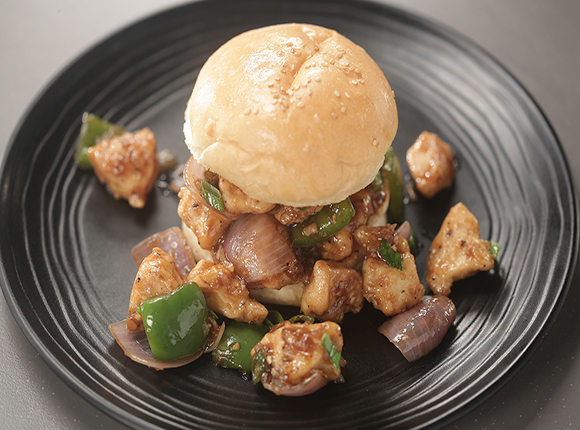 Chilli Chicken Burger - SK Khazana