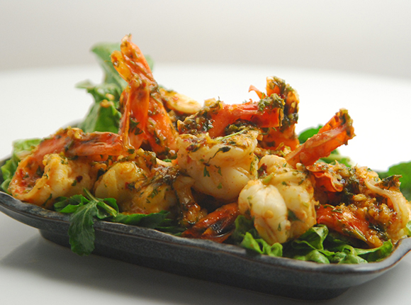 Chilli Garlic Shrimps-Cook Smart