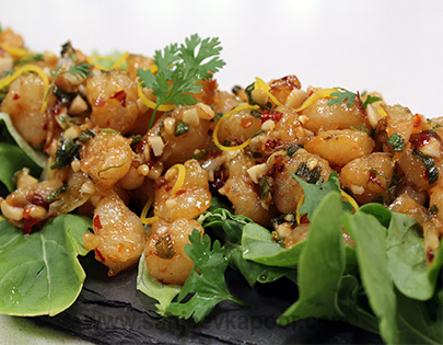 Chilli Garlic Shrimps