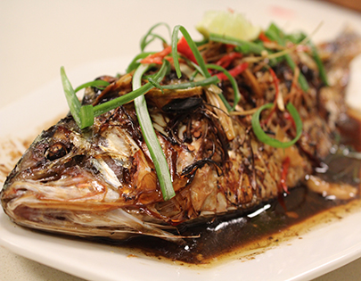 How to make chinese style steamed fish recipe by masterchef sanjeev chinese style steamed fish forumfinder Gallery