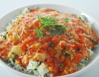 How to make Chinese Tomato Egg Drop Rice, recipe by ...