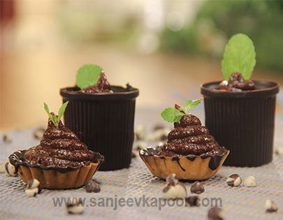 Chocolate Phirni in Chocolate Cups