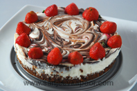 Chocolate And Strawberry Cheesecake