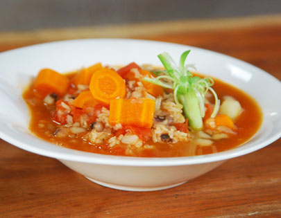 Chowli and Brown Rice Stew