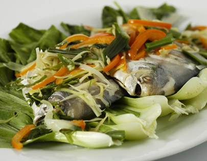 Cilantro Steamed Fish