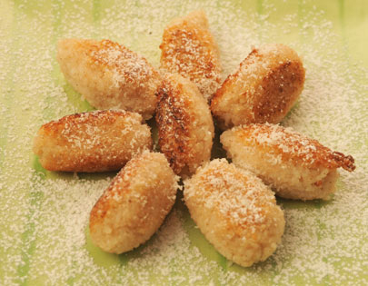 How to make coconut rice fritters recipe by masterchef sanjeev kapoor coconut rice fritters ccuart Image collections
