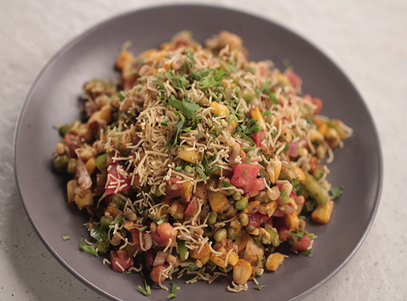 Corn and Sprout Chaat - SK Khazana