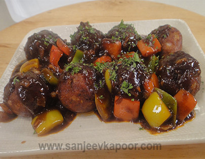 Cottage Cheese in Barbeque Sauce