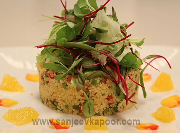 Couscous and Mixed Vegetable Salad with Orange Vin