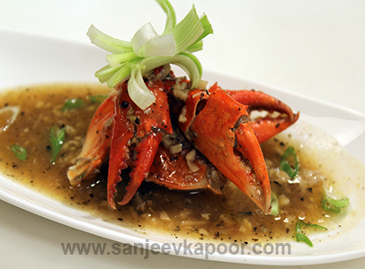 crab in black pepper sauce