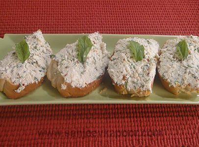 Creamy Cottage Cheese Crostini