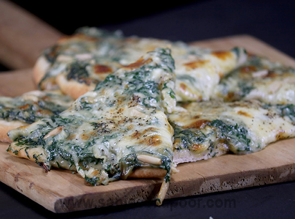 Creamy Spinach Pizza