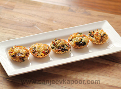 how to make creamy canapes recipe by masterchef sanjeev