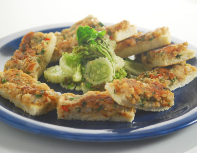 Chef ajay chopra recipes chef sanjeev kapoor crisp prawn toast with cucumber chilli and sesame forumfinder Choice Image