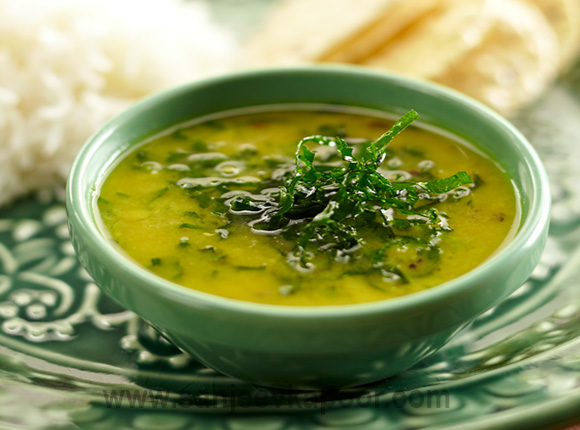 How to make Dal Palak - Simple moong dal preparation with the addition ...