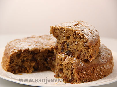 Date and Walnut Cake - No Egg