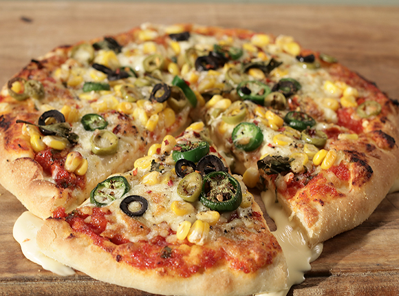 Double Cheese Burst Pizza - SK Khazana