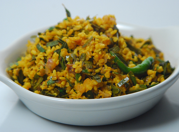 Dry Dal with Imli Leaves-Cook Smart