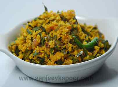 Dry Dal with Imli Leaves