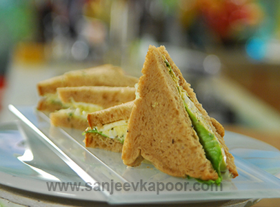 How To Make Egg And Cheese Sandwich Recipe By Masterchef Sanjeev Kapoor