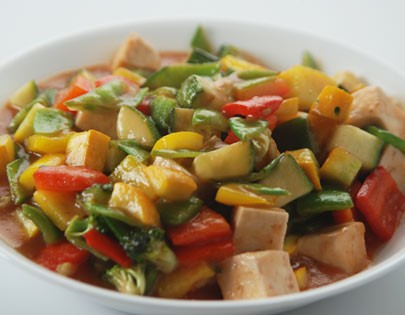 Exotic Vegetables In Plum Sauce