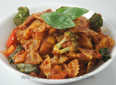 Veg pasta recipe by sanjeev kapoor