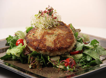 How to make Fish Cake Salad recipe by MasterChef Sanjeev Kapoor
