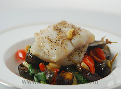 Fish with Roasted Garlic