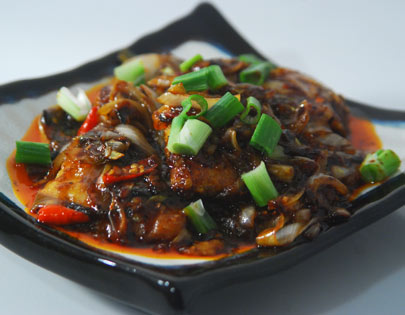 Fish in Hot Black Bean Sauce