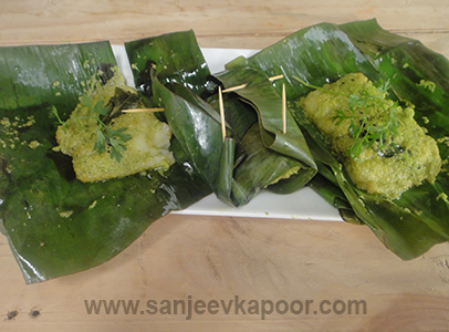 Green Masala Steamed Fish
