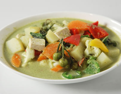 Green Vegetable Curry Thai Style