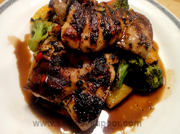 Grilled Chicken Legs with Honey Soya Chilli Sauce