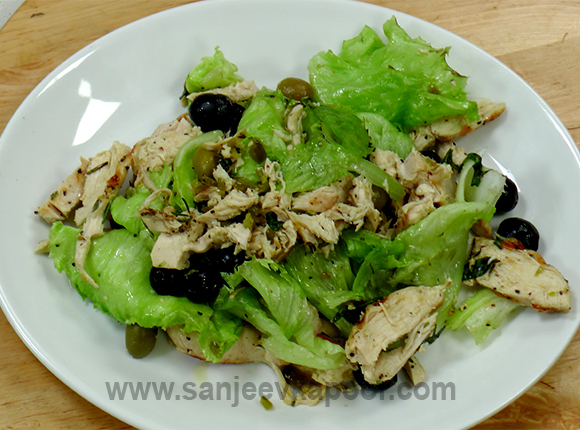 Grilled Chicken Olive Salad