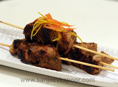 Grilled Lemongrass Chicken Satay