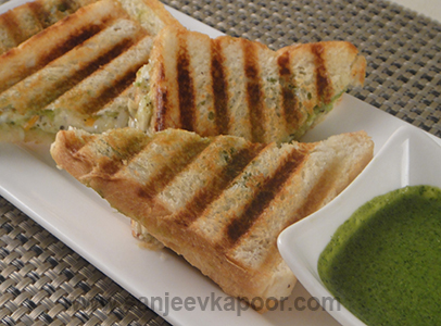 How To Make Grilled Mayo Sandwich Recipe By Masterchef Sanjeev Kapoor