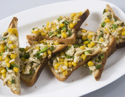 Grilled Corn And Capsicum Toasties